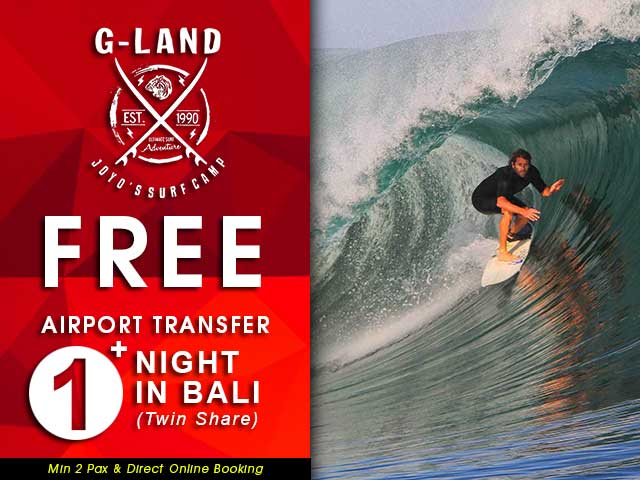 Promo for Online Booking G-Land Joyos